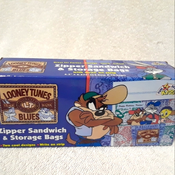 Vintage Looney tunes zipper sandwich bags